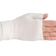 Hvid kompressionshandske uden fingre