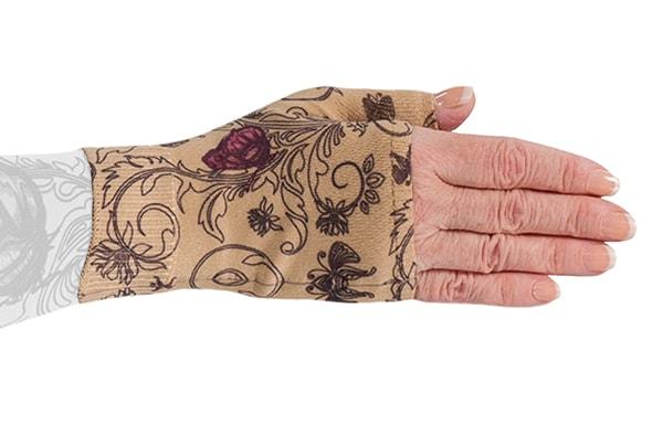 Mariposa Beige kompressionshandske uden fingre