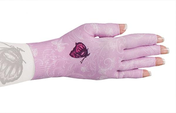 Mariposa Pink kompressionshandske fra LympheDivas