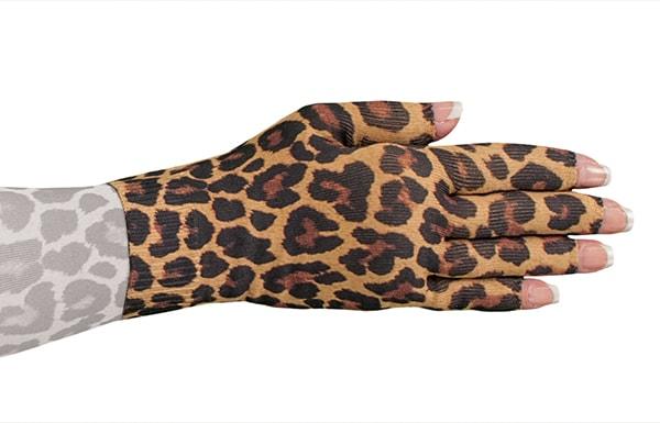 Leo Leopard kompressionshandske med fingre