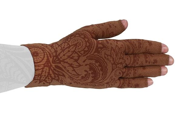 Bohdi Mocha kompressionshandske med fingre