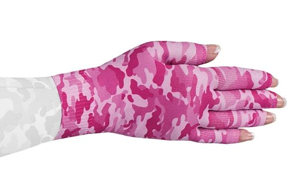 Camouflage Pink kompressionshandske med fingre