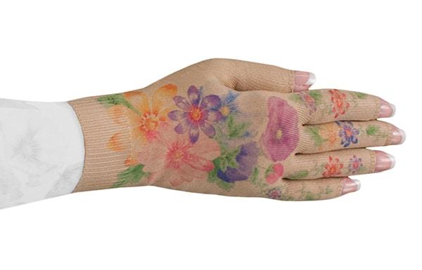 Dahlia kompressionshandske med fingre