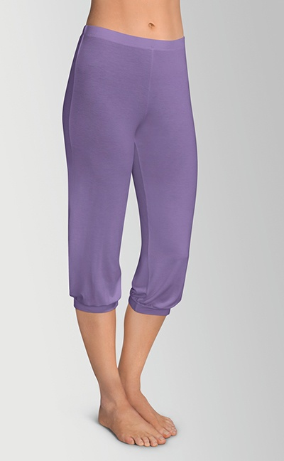 Pyjamas med capri bukser - lilla bukser