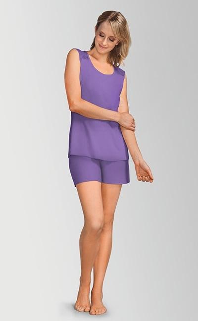Daydream pyjamas med korte ben - lilla