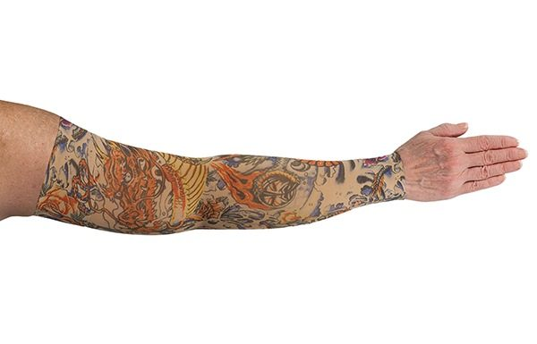 Lotus Dragon Tattoo kompressionsærme fra LympheDivas hos Livja