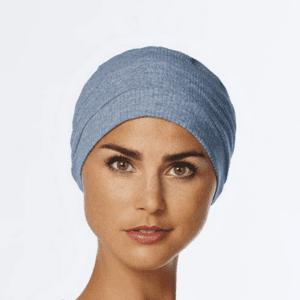 Vitale turban / hue, lysblå melange på livja.dk
