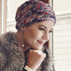 Karma turban fall paisley
