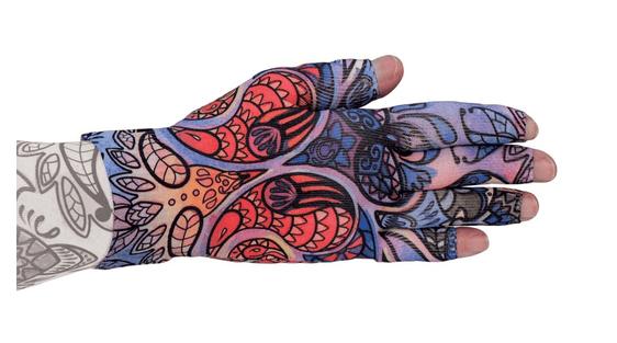Birds of Paradise kompressionshandske med fingre