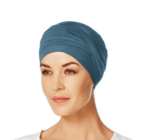 Havblå og klassisk Shanti turban