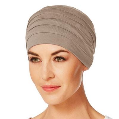 Yoga turban brun