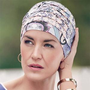 Yoga turban med pastelmønster