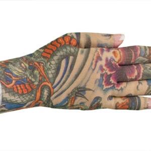 Lotus Dragon Tattoo kompressionshandske