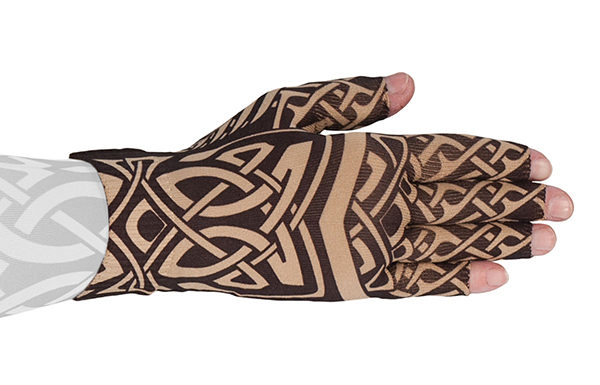 Celtic kompressionshandske med fingre