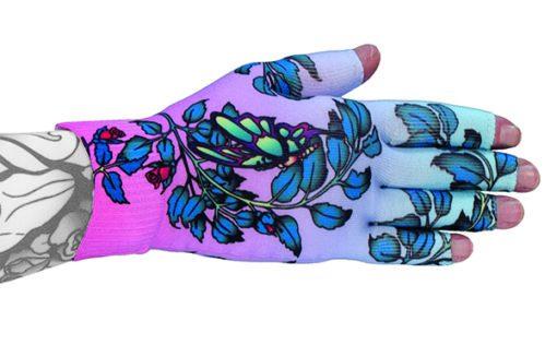 Kiku kompressionshandske med fem fingre