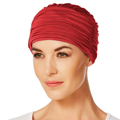 Mørkerød Zen turban