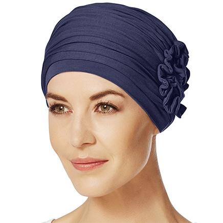 Lotus turban i mørkeblå