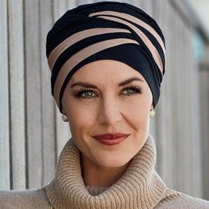 Shanti turban hue sort-brun