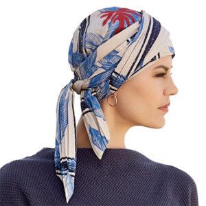 Joli tørklæde fra Christine Headwear blåt