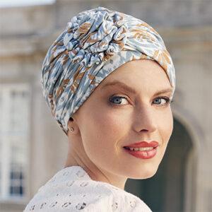 Ikat blå Lotus turban