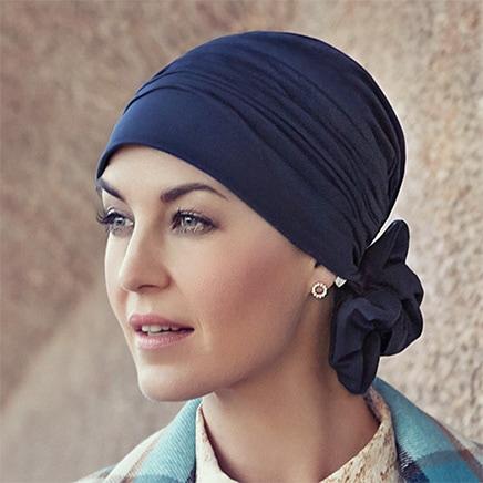 Flot blå Mila turban hue