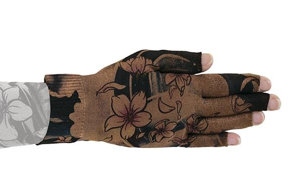 Sakura Mocha kompressionshandske med fingre