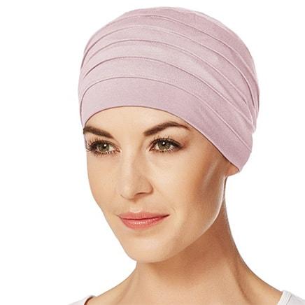 Fin og behagelig Yoga turban i rosa melange